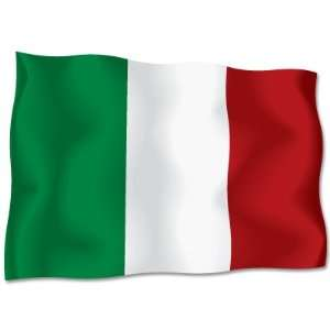 ITALY Italian flag car bumper sticker decal 6 x 4