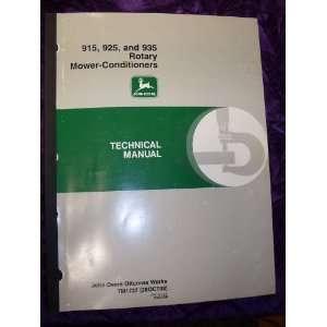 com John Deere 915/925/935 Mower Conditioner OEM Service Manual John