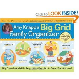 2013 Amy Knapps Big Grid Family wall calendar: The