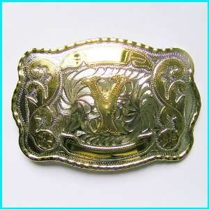 New Western English Letters Y Belt Buckle WT 078Y