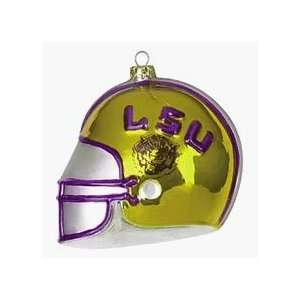 NCAA LSU Louisiana State Tigers Glass Football Helmet 4