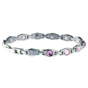 Lady Executive Pink Ribbon Magnetic Bracelet Small (6.5) Jewelry