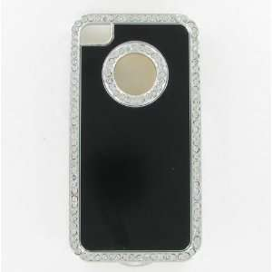 com Apple iPhone 4/CDMA/4S Luxury Diamond Metal Black Protective Case