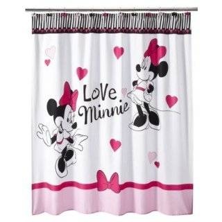 Disney Minnie Mouse Shower Curtain Hooks Set 12 Pink w/Dots
