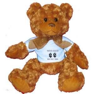 MINIATURE SCHNAUZER MANS BEST FRIEND Plush Teddy Bear
