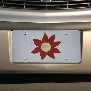 Florida State Seminoles (FSU) Silver Flower Mirrored License Plate