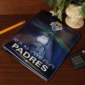 MLB San Diego Padres Team Logo 1 3 Ring Binder  Sports