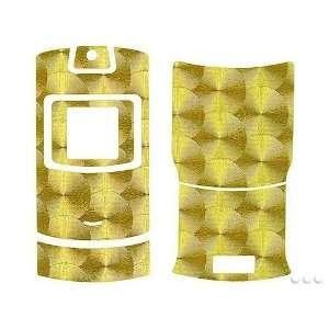 GOLD ENGINE TURN DESIGN CELLET SKIN CELL PHONE COVER