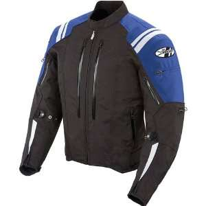 Textile On Road Motorcycle Jacket   Black/Blue / Small Automotive