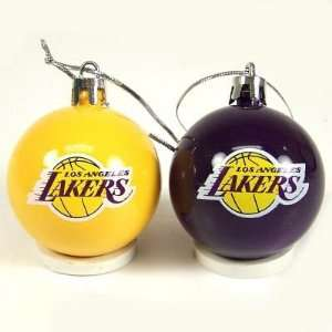 LOS ANGELES LAKERS OFFICIAL BALL CHRISTMAS ORNAMENT SET (12)