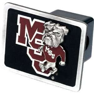 Mississippi State Bulldogs NCAA Pewter Trailer Hitch Cover by Half