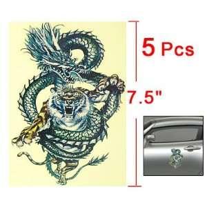 Auto Car Tiger Head Dragon Body Design 2D Sticker Decal Automotive