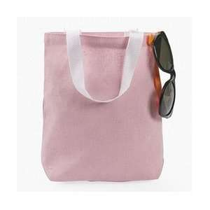 12 Pink Canvas tote bags Toys & Games