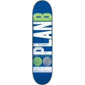 Plan B Original Logo Skateboard Deck   7.5 Green/White