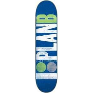 Plan B Original Logo Skateboard Deck   7.5 Green/White