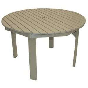 Recycled Plastic Large Round Table Patio, Lawn & Garden