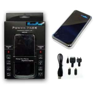 Portable Battery Pack with USB for iPhone, Cell Phones, PDA,