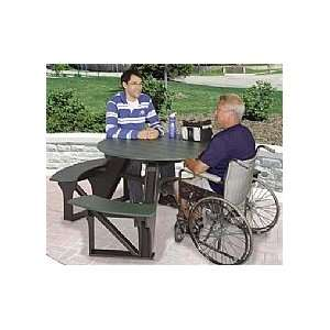 Round picnic table built around tree 1946 how to plans for Wheelchair accessible picnic table plans