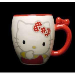 Hello Kitty Design Red Ceramic Coffee Mug Cup