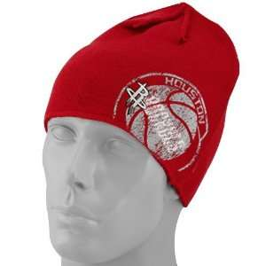 adidas Houston Rockets Red Double Logo Knit Beanie  Sports
