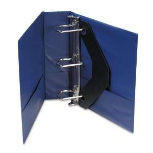 Universal  D Ring Binder w/Label Holder, 3in Capacity, Royal
