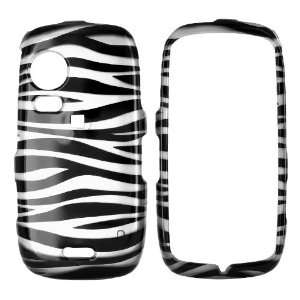 For Samsung Instinct HD Hard Case Silver Black Zebra Cell