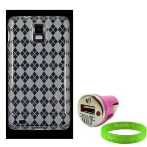 USB Samsung Infuse Car Charger + Live * Laugh * Love VG Wrist Band