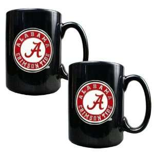 Alabama Crimson Tide NCAA 2pc Coffee Mug Set  Sports