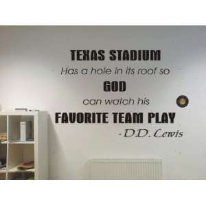 Texas Stadium Dallas Cowboys funny football famous quote Wall Art