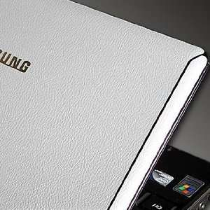 Samsung SENS N140 Laptop Skin [White Leather] Electronics
