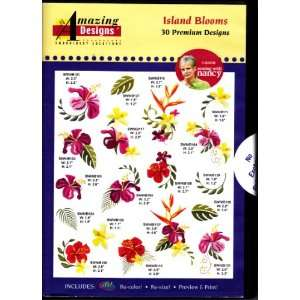 : Amazing Designs Island Blooms Machine Embroidery Designs: Software