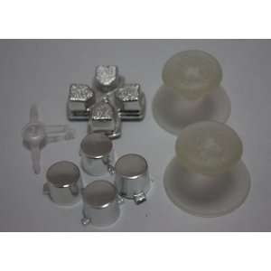 2sets/lot, Chrome silver PS3 Controller Mod Kit   Buttons