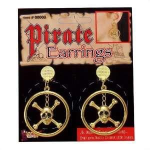 Crossbone Skull Pirate Earrings Toys & Games