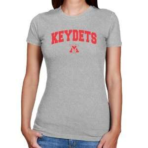 Keydets Ladies Ash Logo Arch Slim Fit T shirt: Sports & Outdoors