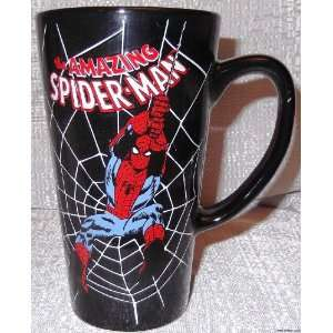 Marvel Comics SPIDERMAN Black Web Tall Ceramic Latte MUG