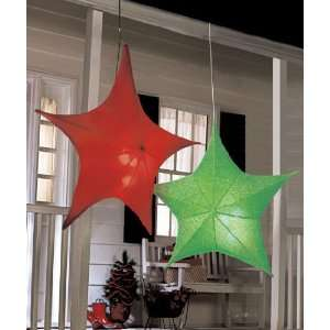 40 Lighted Star Green Hanging Party Light  Kitchen