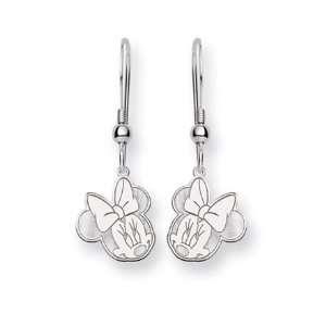 Disneys Flirty Minnie Mouse, Wire Earrings in Sterling Silver