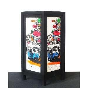 ASIAN ORIENTAL TUKTUK THAI CAR SAA PAPER TABLE LAMP #L006