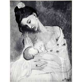 1965 Print Pablo Picasso Maternity Child Baby Mother