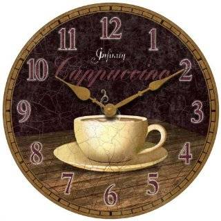Decoupage Art Wall Clock   Coffee Time, 8 inch Version