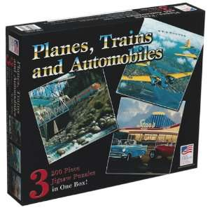 Planes Trains and Automobiles Jigsaw Puzzle 200pc Toys & Games