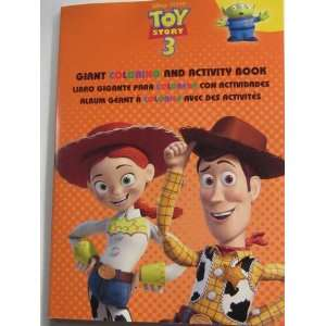 Trilingual Toy Story 3 Giant Coloring & Activity Book