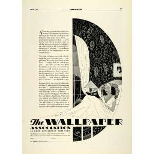 1931 Ad Wallpaper Association New York Wall Covering Home