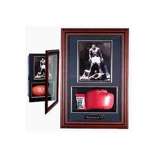 Bobble Head Doll Hotel Display Case with Mahogany Frame