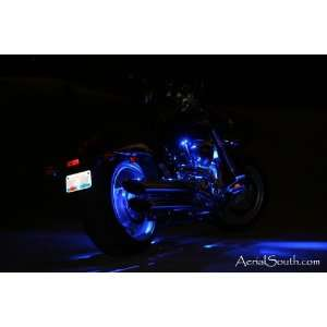 28 LED Motorcycle Accent Light Kit   Engine & Rear Wheel ColorBLUE