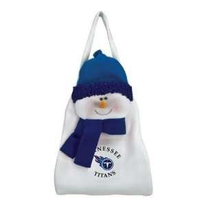 Snowman Winter Holiday Door Sack   NFL Football
