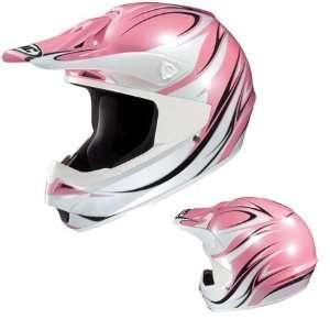 HJC CS MX Wave Full Face Helmet Small  Pink Automotive