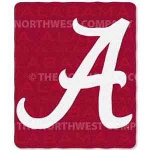 Alabama Crimson Tide Fleece NCAA Blanket (031 Series) by