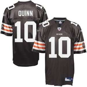 Reebok NFL Equipment Cleveland Browns #10 Brady Quinn Brown Youth