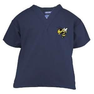 Georgia Tech Yellow Jackets Navy Blue Youth Mascot Scrub Top (Large